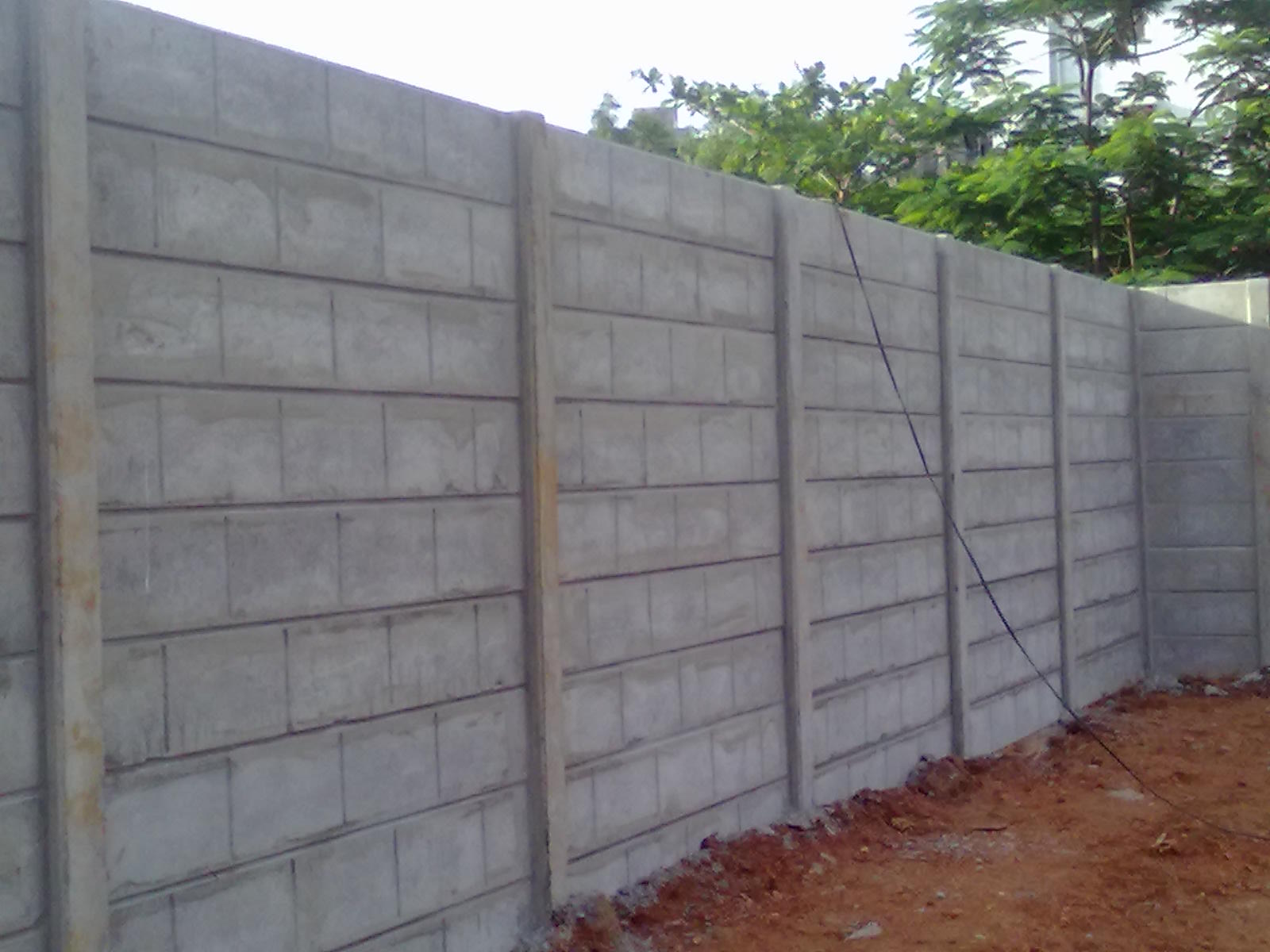 Precast Compound Wall : Precast concrete products india compound wall